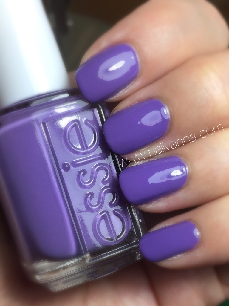 nailvanna,nail polish reviews,lacquer,essie, spring 2016, shade on, purple
