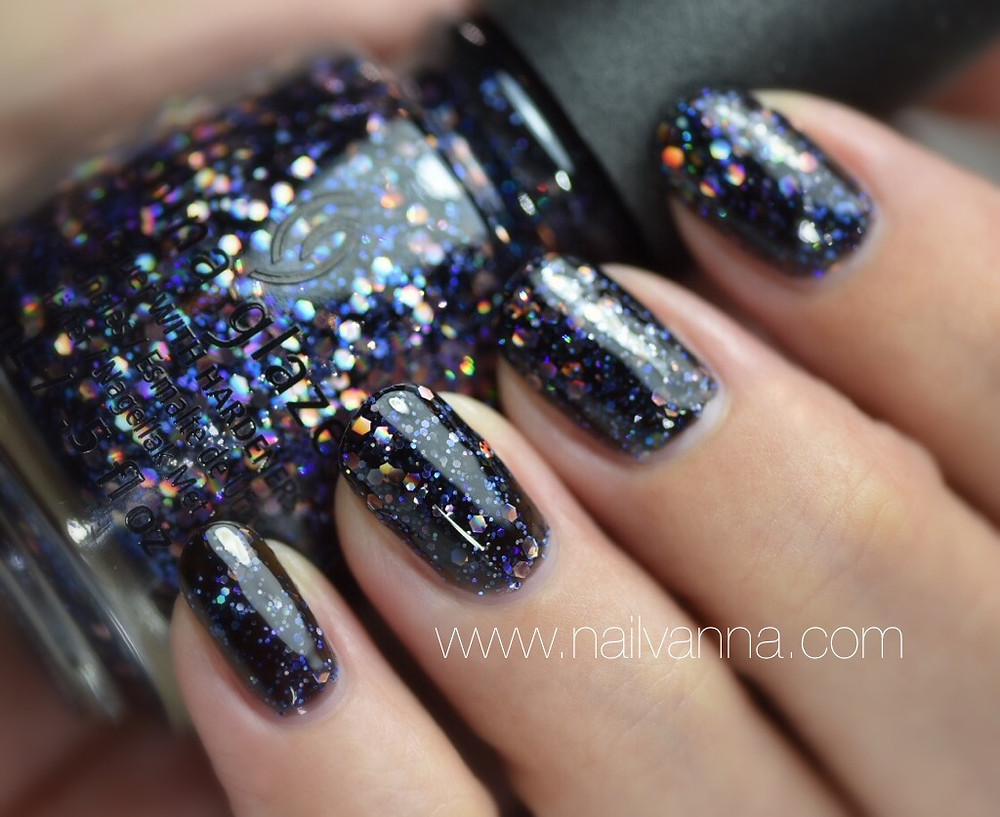 nailvanna,nail polish reviews,lacquer,coal hands warm heart,china glaze,glitter,cheers