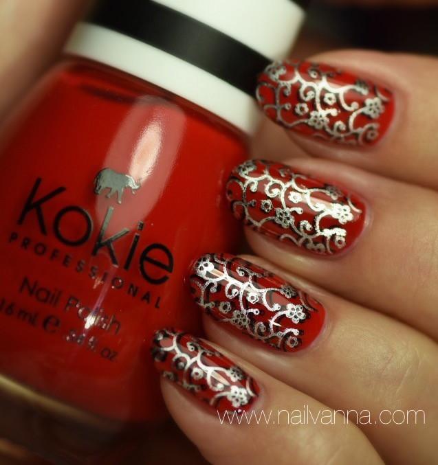 Nailvanna,nail polish reviews,lacquer,Kokie,Fearless, red,nail art