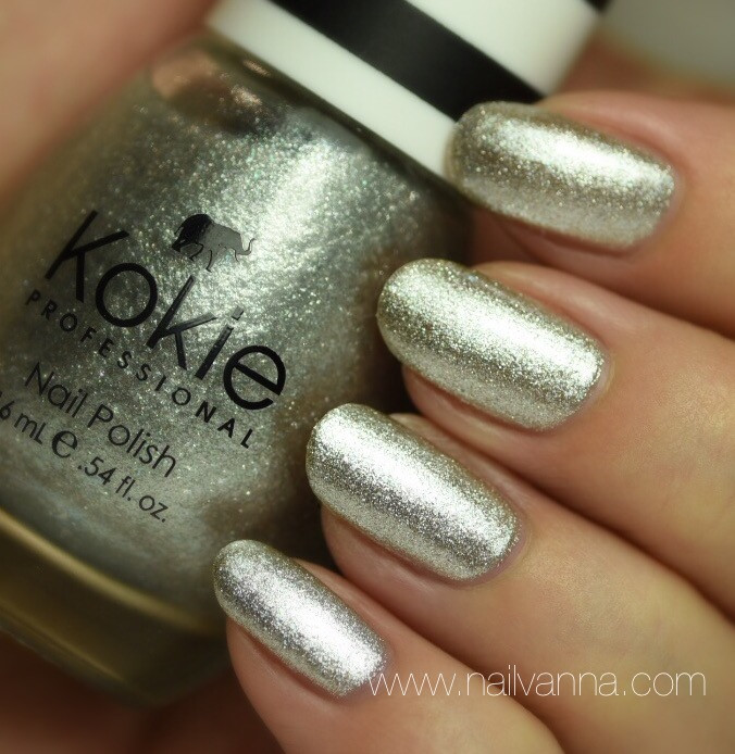 Nailvanna,nail polish reviews,lacquer,kokie,silver streak