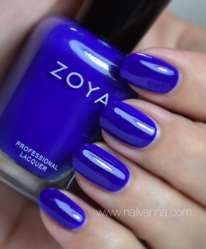 Nailvanna,nail polish reviews,lacquer,Zoya,Mirajane,neon,blue