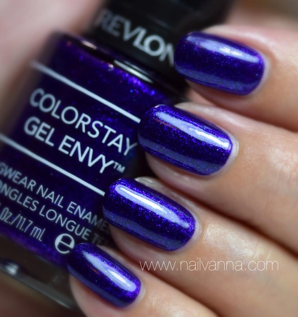 Nailvanna,nail polish reviews,lacquer,Revlon,Showtime,purple,glitter
