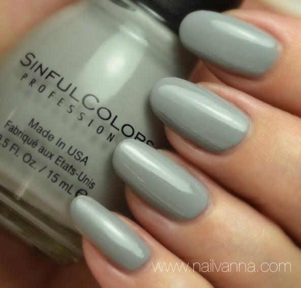 Nailvanna,nail polish reviews,lacquer,Sinful Colors,Cool Gray,