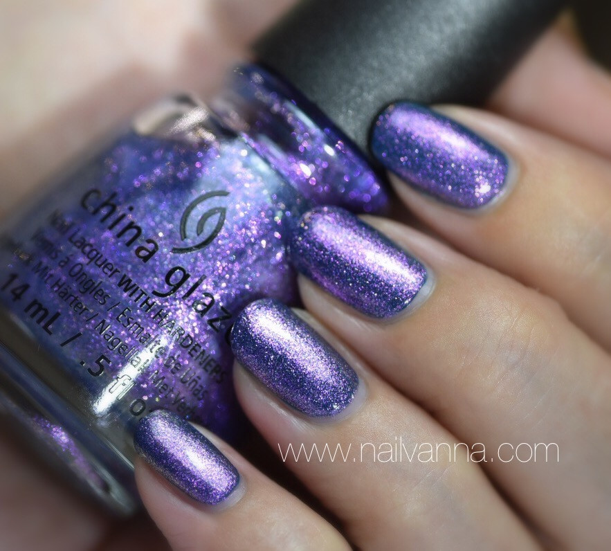 Nailvanna,nail polish reviews,lacquer,China Glaze,Don't Mesh With Me,purple shimmer