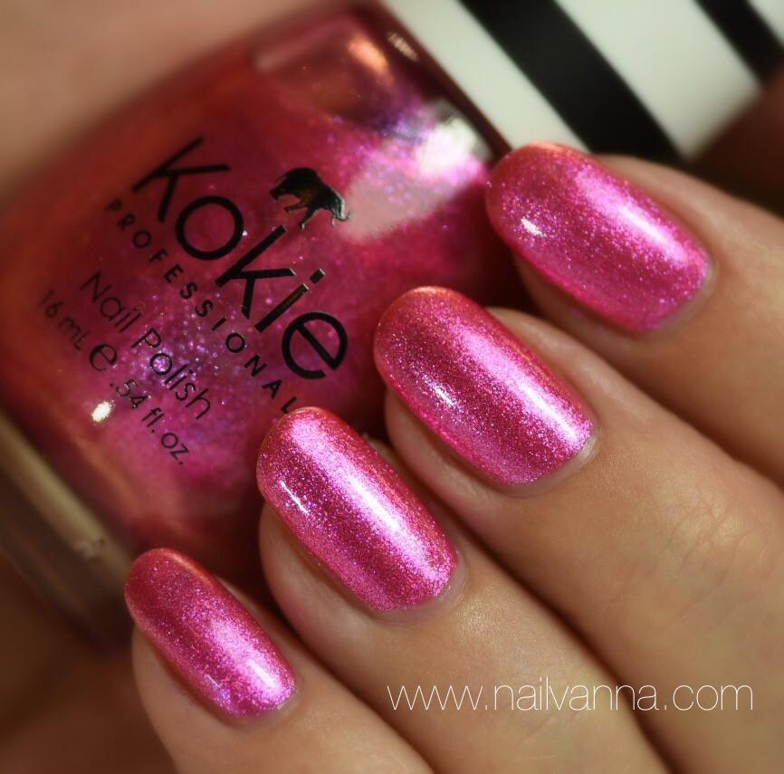 Nailvanna,nail polish reviews,lacquer,Kokie,My Private Jet,pink
