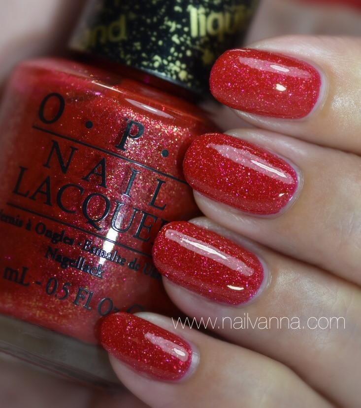 Nailvanna,nail polish reviews,lacquer,OPI,Magazine Cover Mouse,red,liquid sand