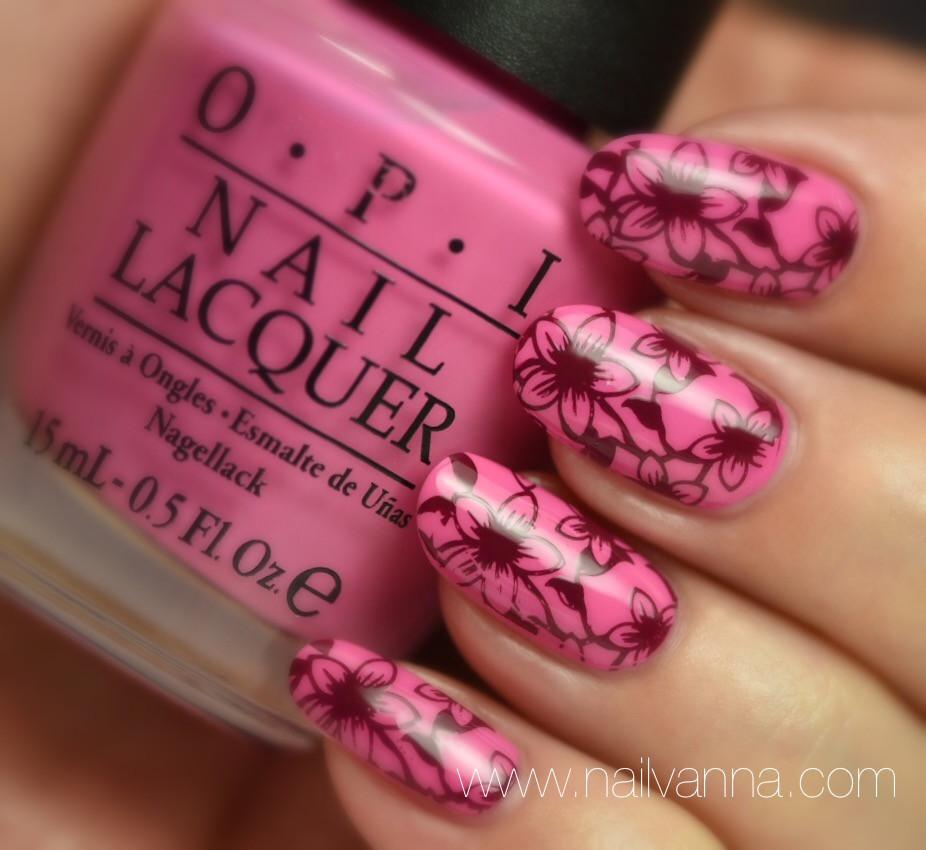 Nailvanna,nail polish reviews,lacquer,OPI,Two-timing the Zones,pink,born pretty