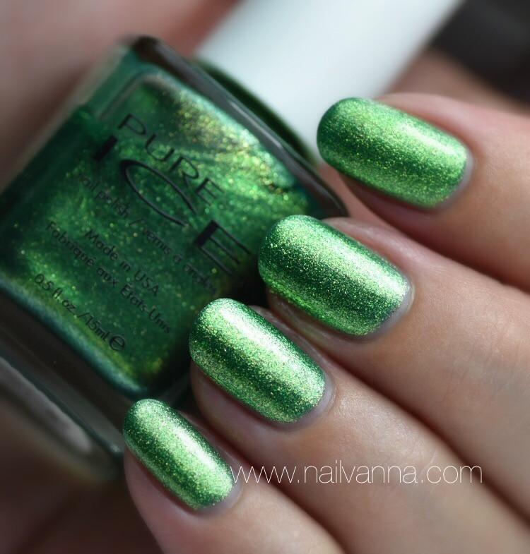 Nailvanna,Nail polish reviews,lacquer,Pure,Ice Lucky Charming,