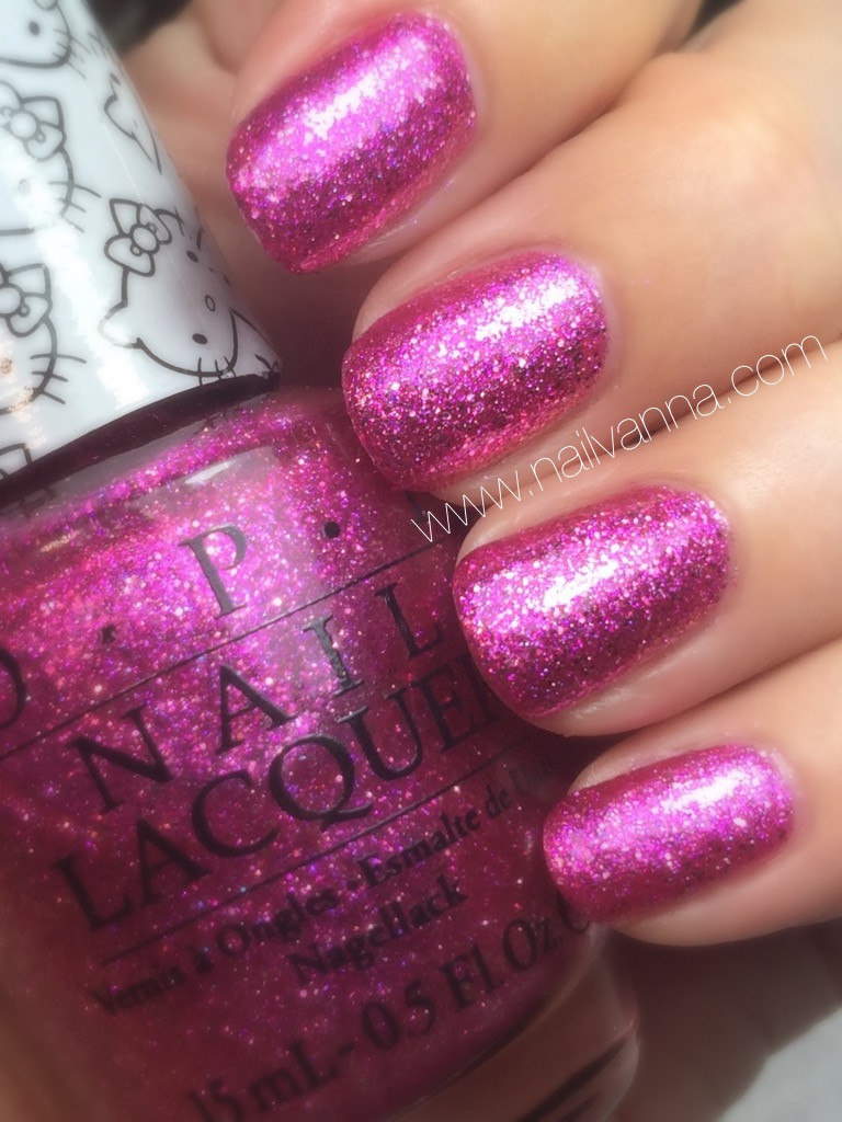 nailvanna,nail polish reviews,lacquer,opi, pink glitter,starry eyed for dear daniel