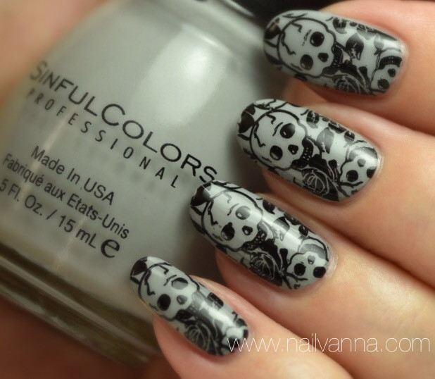 Nailvanna,nail polish reviews,lacquer,Sinful Colors,Cool Gray,every day is Halloween,Ministry