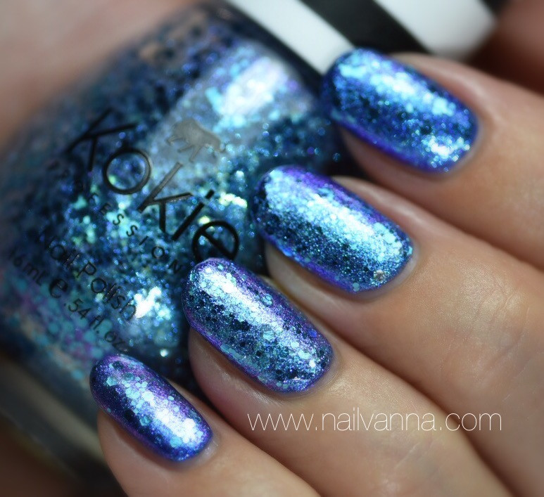 Nailvanna, nail polish reviews,lacquer,Kokie,Northern Lights,Mermaid Nails