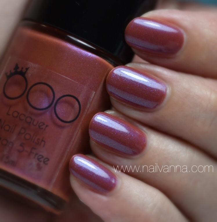 Nailvanna,nail polish reviews,lacquer,OOO Nail Polish,Obatala, neutral,purple shimmer