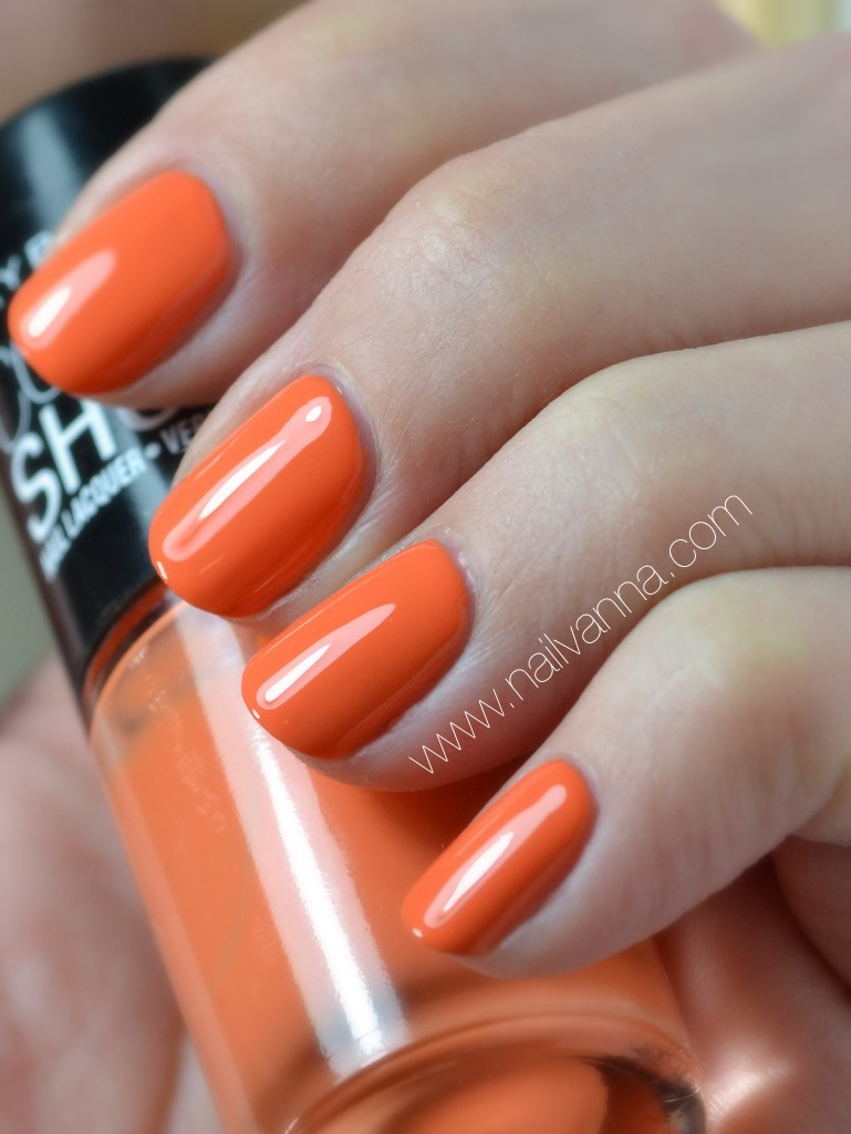 nailvanna,nail polish reviews,lacquer,Maybelline,Sweet Clementine,orange,color show