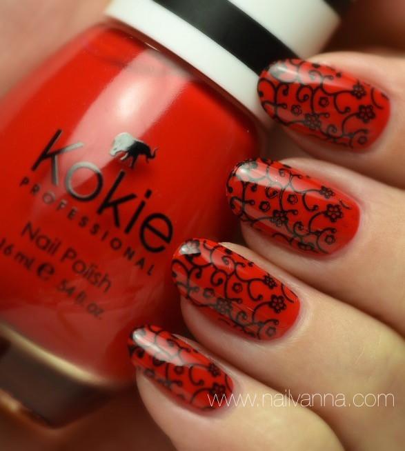 Nailvanna,nail polish reviews,lacquer,Kokie,Fearless, red