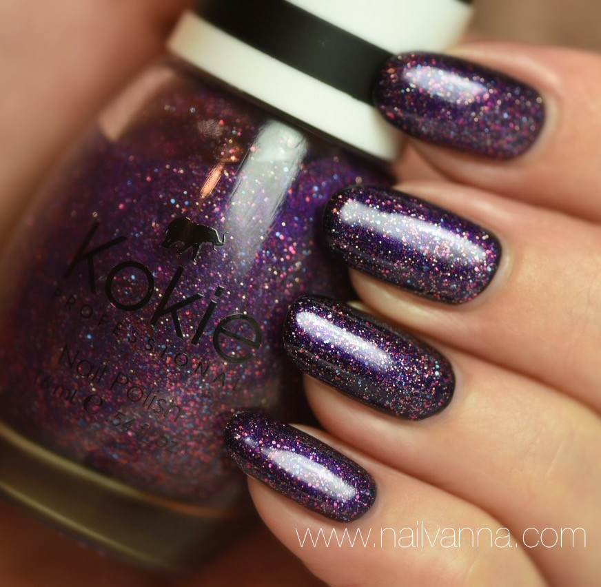Nailvanna,nail polish reviews,lacquer,Kokie,It's A Date,Glitter