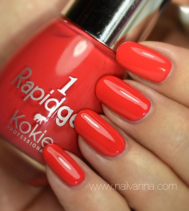 Nailvanna,nail polish reviews,lacquer,Kokie,Rapidgel,coral,High Maintenance