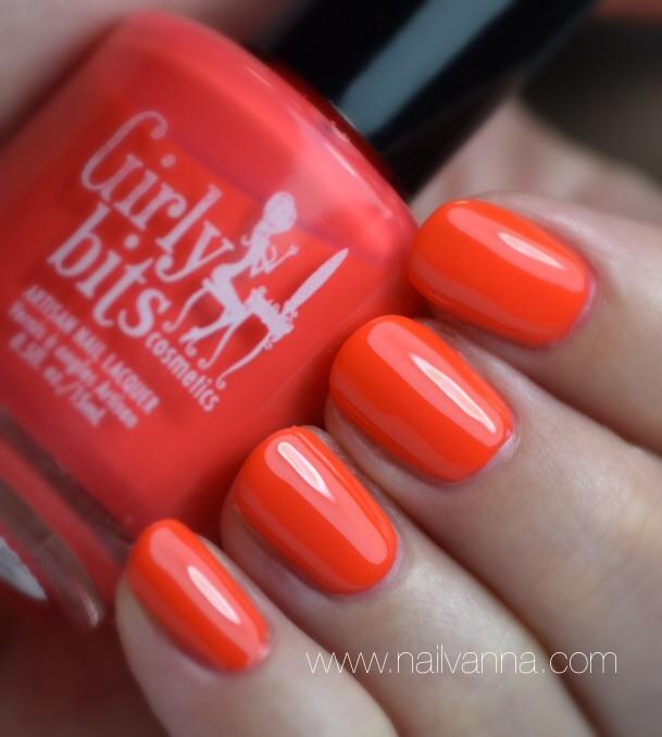 Nailvanna,nail polish reviews,lacquer,girly bits,hoop! there it is,neon