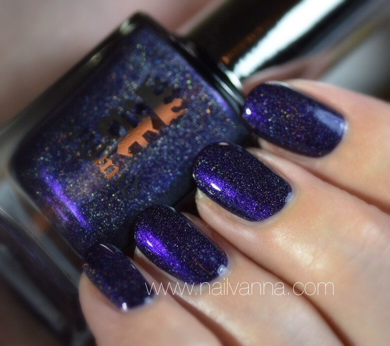 Nailvanna,nail polish review,lacquer,a England,Polovetsian Dances,Blue,holo