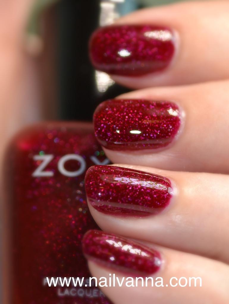 nailvanna,nail polish reviews,lacquer,zoya, blaze, red holo,best zoya