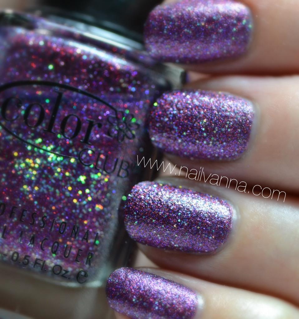 nailvanna,nail polish reviews,lacquer,color club, purple, glitter