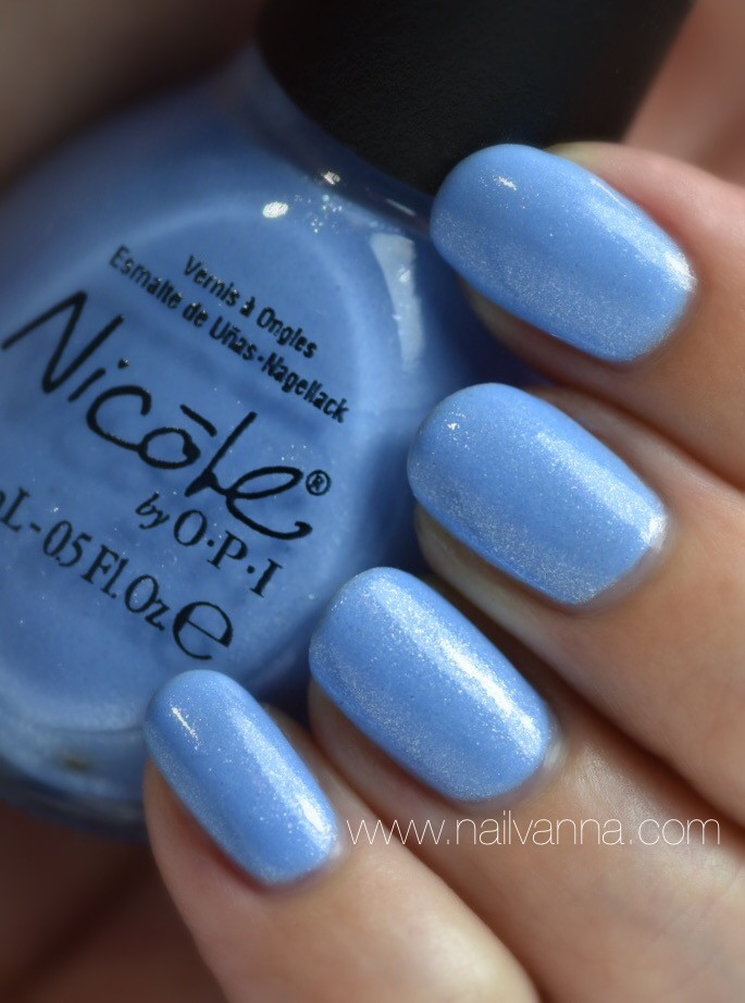 Nailvanna,nail polish review,lacquer,Nicole by OPI,Nothing Kim-Pares To Blue