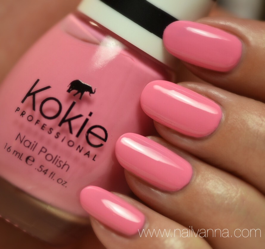 Nailvanna,nail polish reviews,lacquer,Kokie,Unforgettable,pink
