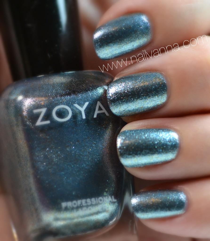 nailvanna,nail polish reviews,lacquer, zoya, foil, hazel, blue