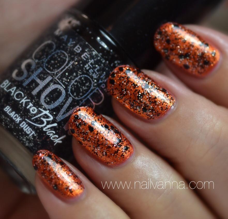 Nailvanna,nail polish reviews,lacquer,Zoya,Amy,orange,Maybelline,Black Dust