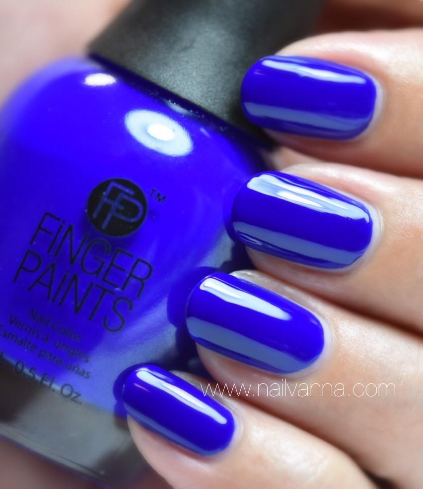 Nailvanna,nail polish reviews,lacquer,Finger Paints,Magritte's Masterpiece,blue