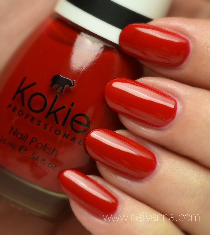 Nailvanna, nail polish reviews, lacquer, red,Kokie, Seeing Red