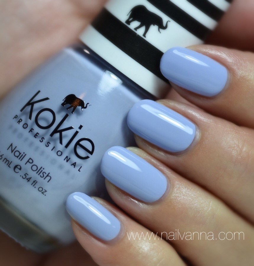 Nailvanna, nail polish reviews,lacquer,Kokie,Heavenly,blue,Ipsy