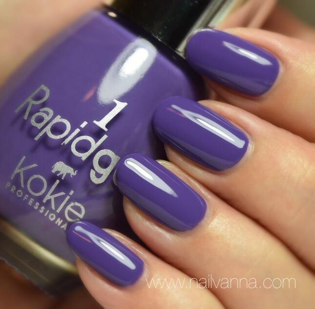 Nailvanna,nail polish reviews,lacquer,Kokie,Rapidgel,Grape Escape,purple