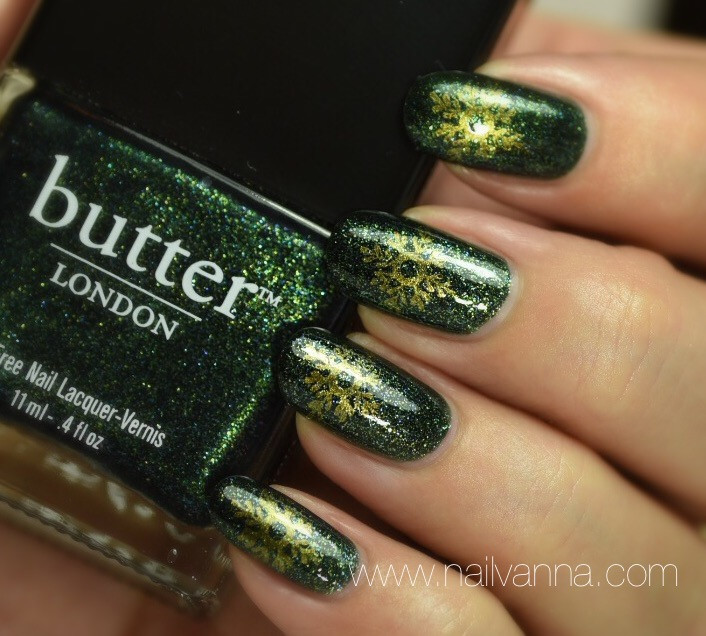 nailvanna,nail polish reviews,lacquer,butter London,Jack The Lad,green glitter,winners