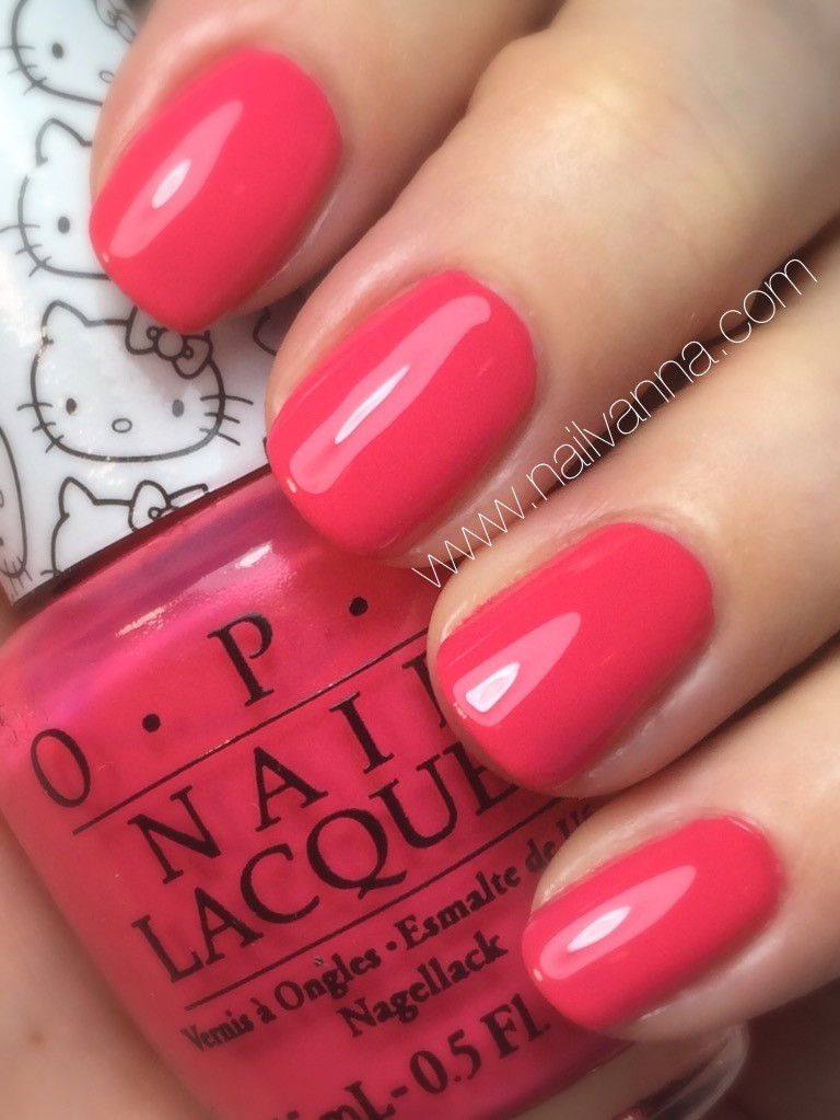 nailvanna,nail polish reviews,lacquer,opi,hello kitty,pink,creme
