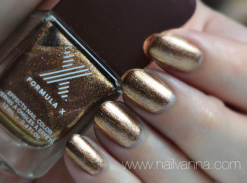 Nailvanna,nail polish reviews,lacquer,sephora,formula x,alchemy II,metallic,foil