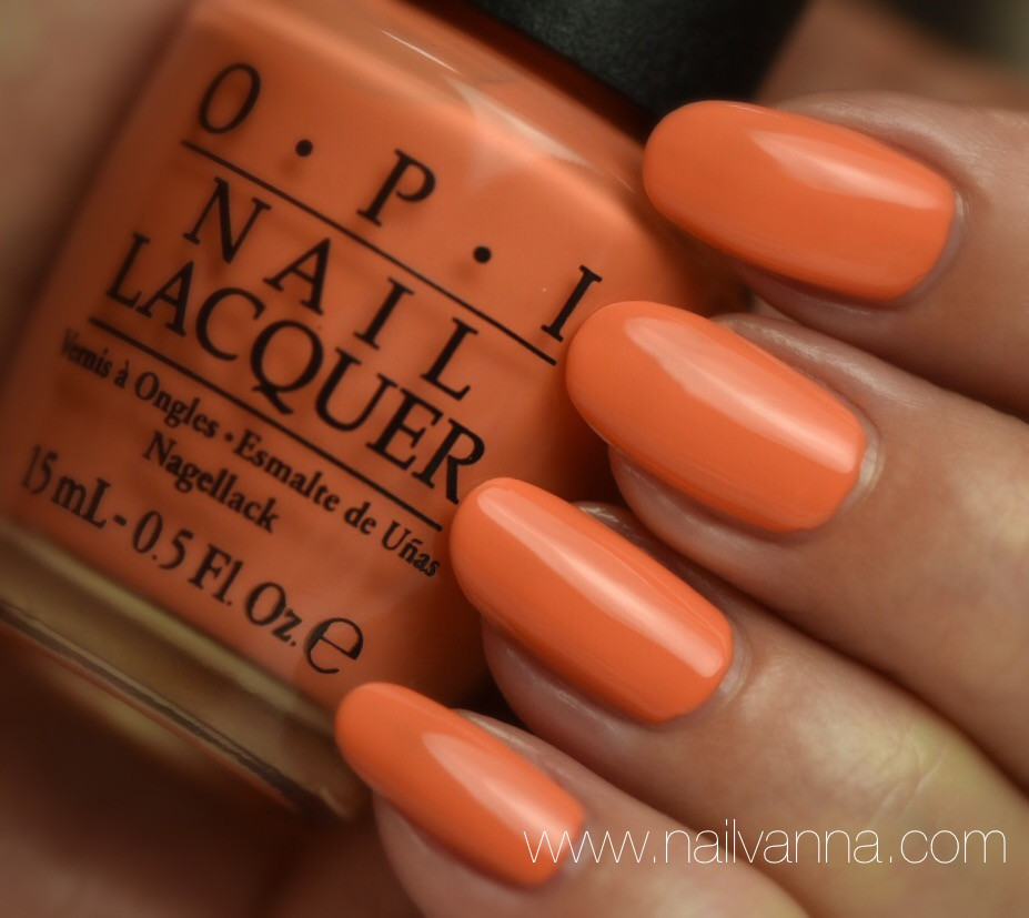Nailvanna,nail polish reviews,lacquer,orange,OPI, Where Did Suzi's Man-go?