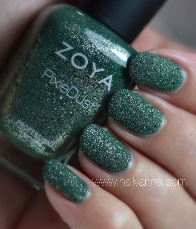 Nailvanna,nail polish review,lacquer,zoya,Chita,green,pixie dust