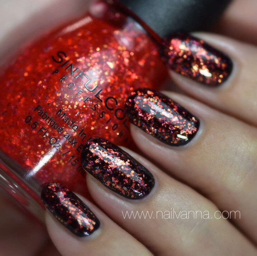 Nailvanna, nail polish reviews,lacquer,Sinful Colors,Devil's Stare