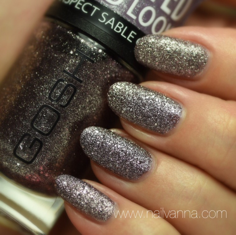 Nailvanna,lacquer,Gosh,Frosted Purple,textured,purle