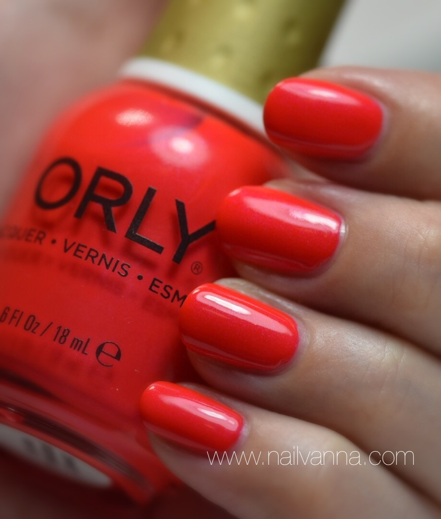 Nailvanna,nail polish reviews,lacquer,orly,fireball,neon nails,