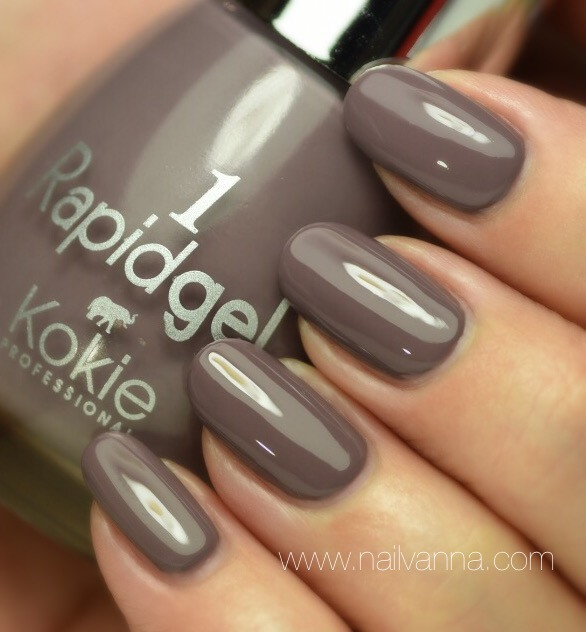 Nailvanna,nail polish reviews,lacquer,Kokie,Rapidgel,Incognito,grey,taupe,greige