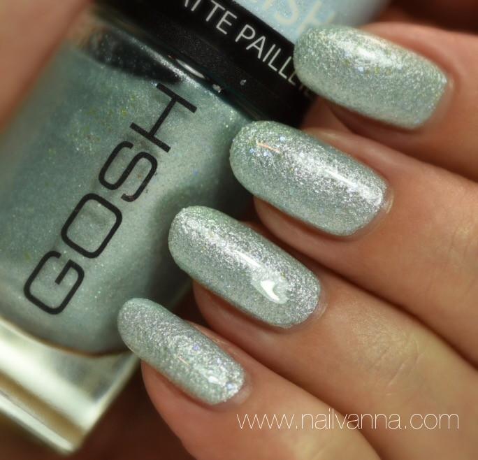 Nailvanna,lacquer,nail polish reviews,Gosh,Frosted Soft Blue