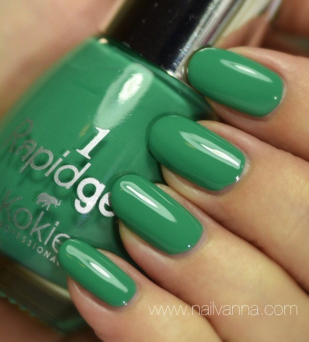 Nailvanna,nail polish reviews,lacquer,Kokie,Rapidgel,Leaf Me Hanging,green