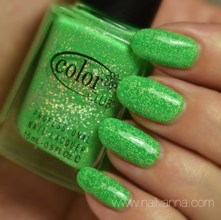 Nailvanna,nail polish reviews,lacquer,Color Club,Glitter Envy
