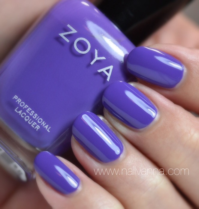 Nailvanna,nail polish review,lacquer,zoya,serenity,purple