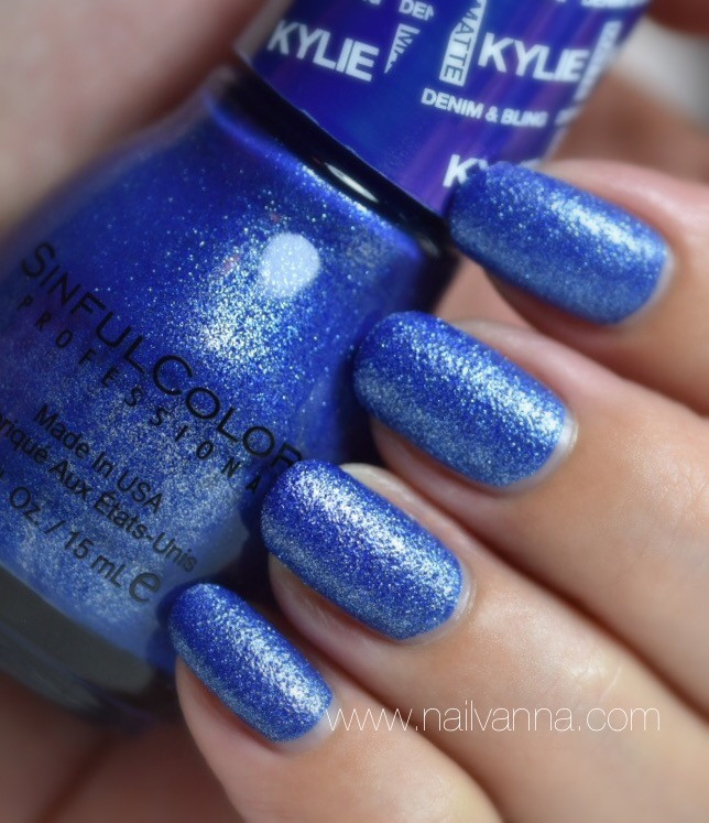 Nailvanna,nail polish reviews,lacquer,Sinful Colors,Kobalt,Blue,textured,Kylie Jenner