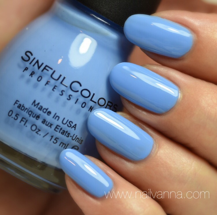 Nailvanna,nail polish reviews,lacquer,Sinful Colors Sail La Vie