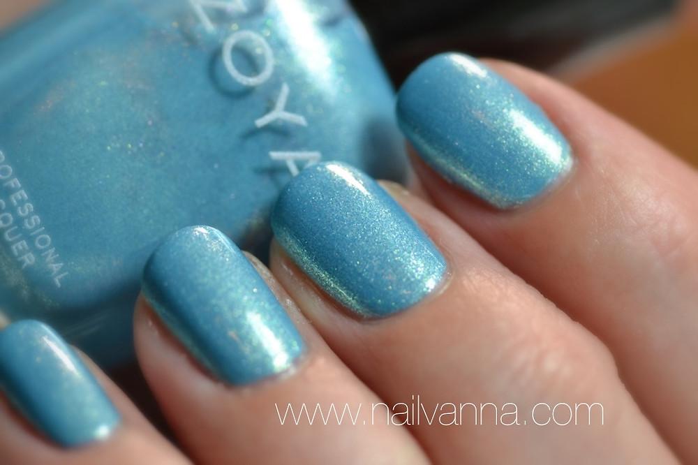 Nailvanna,nail polish reviews, lacquer,Zoya, rebel, metallic, blue glitter,