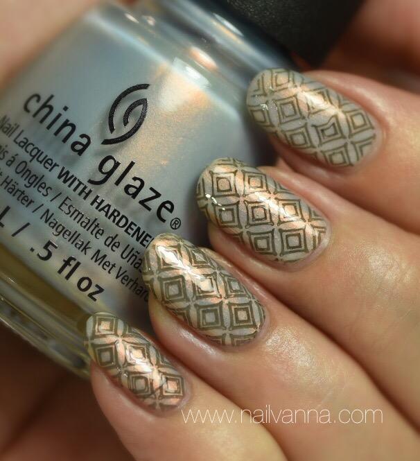 China Glaze Pearl Jammin' Stamped