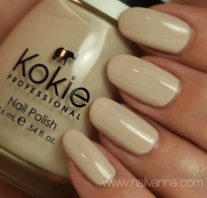 Nailvanna,lacquer,nail polish reviews,Kokie,Creme Brule,neutral